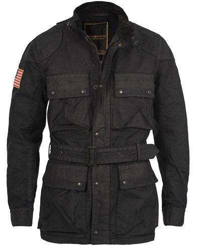 Denim & Supply Ralph Lauren 4-Pocket Motor Jacket Black i gruppen Jakker / Voksede jakker hos Care of Carl (12188511r)