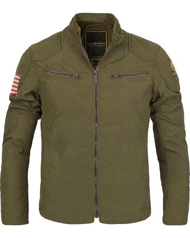 Denim & Supply Ralph Lauren Motorcycle Jacket Olive i gruppen Jackor / Tunna Jackor hos Care of Carl (12188911r)