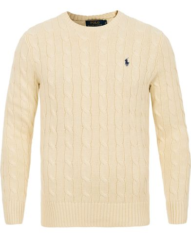 Polo Ralph Lauren Cotton Cable C-Neck Pullover Antique Cream i gruppen Tr�jor / Stickade Tr�jor hos Care of Carl (12195011r)