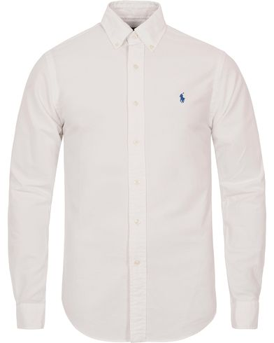 Polo Ralph Lauren Slim Fit Oxford Shirt White i gruppen Skjorter / Oxfordskjorter hos Care of Carl (12202011r)