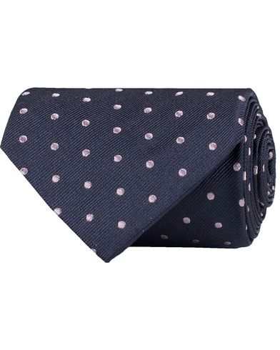 Paul Smith Mini Dot Naked Lady 8 cm Tie Navy  i gruppen Assesoarer / Slips hos Care of Carl (12211510)