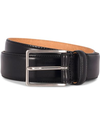 Morris Heritage Leather 3,5 cm Belt Black i gruppen Accessoarer / Bälten / Släta bälten hos Care of Carl (12211811r)