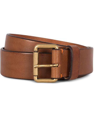 Morris Leather 3,5 cm Jeans Belt Tan i gruppen Assesoarer / Belter / Umønstrede belter hos Care of Carl (12212111r)
