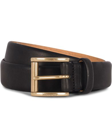 Morris Leather 3 cm Belt Black i gruppen Accessoarer / Bälten / Släta bälten hos Care of Carl (12212511r)