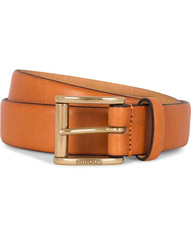 Morris Leather 3 cm Belt Orange i gruppen Accessoarer / Bälten / Släta bälten hos Care of Carl (12212611r)