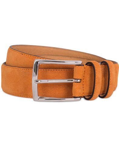 Morris Suede 3,5 cm Belt Orange i gruppen Accessoarer / Bälten / Släta bälten hos Care of Carl (12212811r)