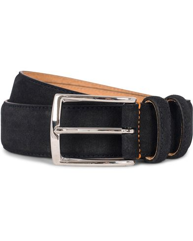 Morris Suede 3,5 cm Belt Dark Blue i gruppen Assesoarer / Belter hos Care of Carl (12212911r)