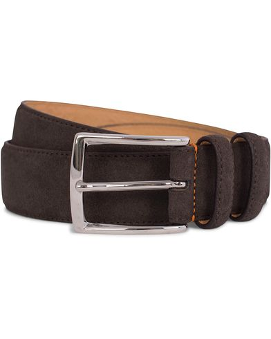 Morris Suede 3,5 cm Belt Dark Brown i gruppen Assesoarer / Belter hos Care of Carl (12213111r)