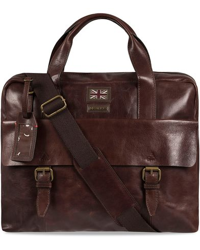 Morris Leather Briefcase Dark Brown  i gruppen Vesker / Dokumentvesker hos Care of Carl (12214710)