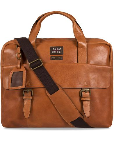 Morris Leather Briefcase Cognac  i gruppen Vesker / Dokumentvesker hos Care of Carl (12214810)