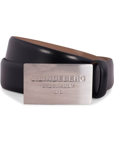 J.Lindeberg S-Belt 52000 Cow Leather 3 cm Black i gruppen Accessoarer / Bälten / Släta bälten hos Care of Carl (12216811r)