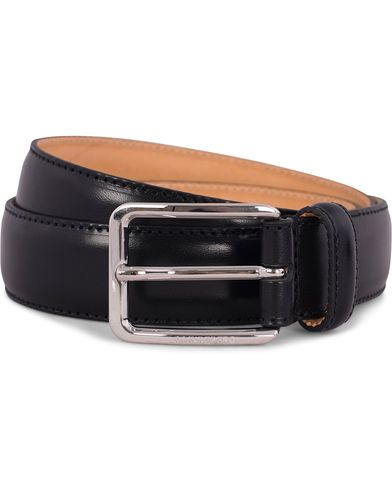 J.Lindeberg S-Belt 52003 Cow Leather 3 cm Black i gruppen Accessoarer / Bälten / Släta bälten hos Care of Carl (12217011r)