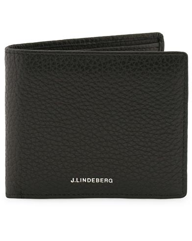 J.Lindeberg Leather Wallet Black  i gruppen Accessoarer / Plånböcker / Vanliga plånböcker hos Care of Carl (12217610)