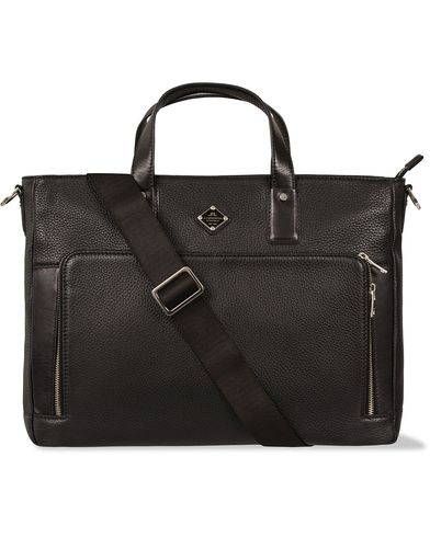 J.Lindeberg S-Bag 50005 Mix Leather Briefcase Black i gruppen Väskor / Portföljer hos Care of Carl (12218310)