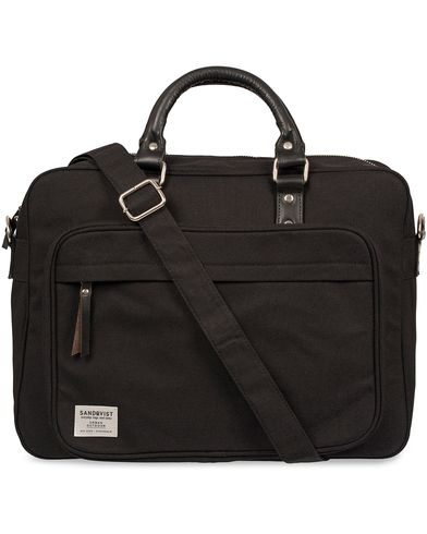 Sandqvist Pontus Canvas Laptop Bag Black  i gruppen Assesoarer / Vesker / Dokumentvesker hos Care of Carl (12223610)