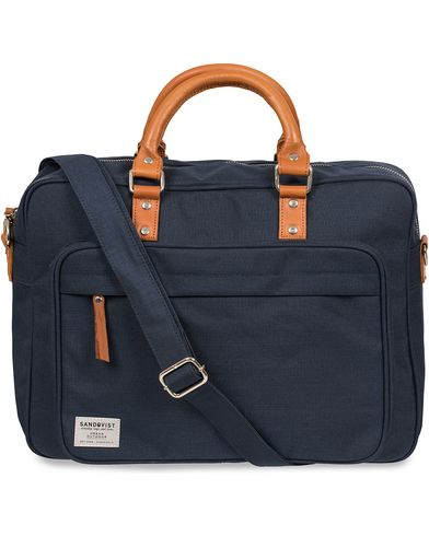 Sandqvist Pontus Canvas Laptop Bag Blue  i gruppen Väskor / Portföljer hos Care of Carl (12223710)