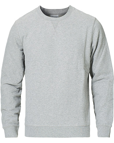 Sunspel Loopback Sweatshirt Grey Melange i gruppen Tøj / Trøjer / Sweatshirts hos Care of Carl (12246211r)