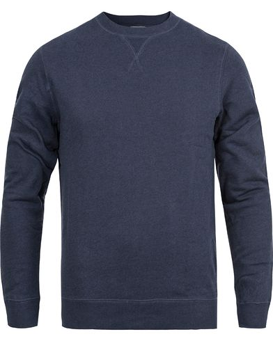 Sunspel Loopback Sweatshirt Navy Melange i gruppen Klær / Gensere / Sweatshirts hos Care of Carl (12246311r)
