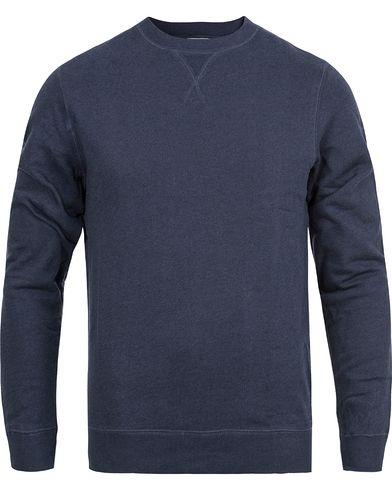 Sunspel Loopback Sweatshirt Navy Melange i gruppen Gensere / Sweatshirts hos Care of Carl (12246311r)