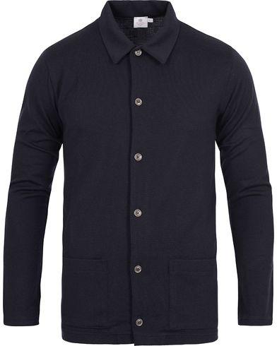 Sunspel Vintage Merino Wool Jacket Navy i gruppen Kläder / Tröjor hos Care of Carl (12246511r)