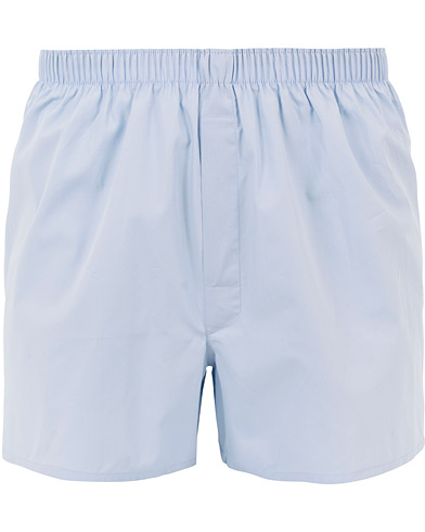 Sunspel Classic Woven Cotton Boxer Shorts Plain Blue i gruppen Underkläder / Kalsonger hos Care of Carl (12247411r)