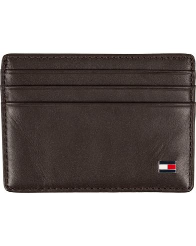 Tommy Hilfiger Eton CC Leather Cardholder Brown  i gruppen Accessoarer / Plånböcker / Korthållare hos Care of Carl (12266510)
