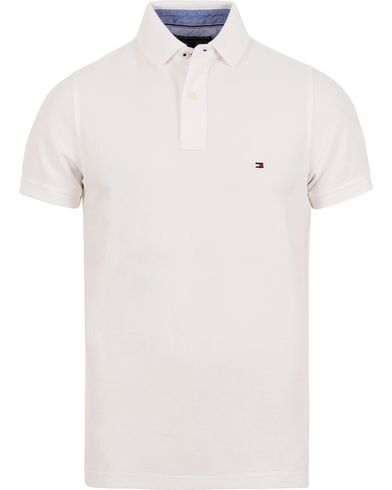 Tommy Hilfiger Performance Polo Classic White i gruppen Pik�er / Kort�rmad Pik� hos Care of Carl (12268511r)