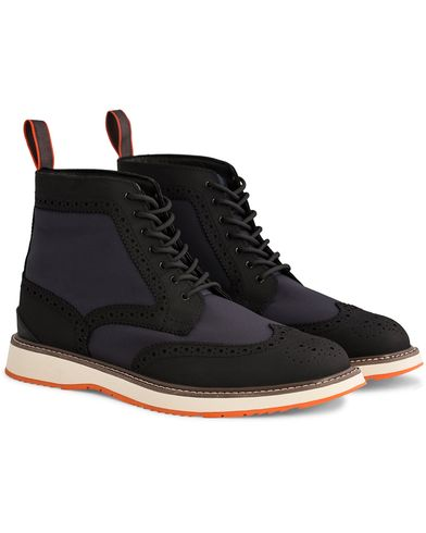 Swims Barry Brogue High Navy/Black i gruppen Skor / Kängor / Snörkängor hos Care of Carl (12272211r)