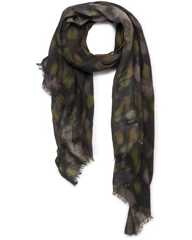 Paul Smith Modal/Cashmere Dotted Scarf Camo Green  i gruppen Accessoarer / Scarves hos Care of Carl (12279610)
