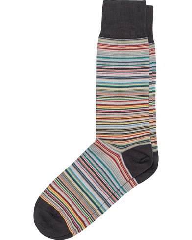 Paul Smith Multi Stripe Sock Grey  i gruppen Klær / Undertøy / Sokker / Vanlige sokker hos Care of Carl (12279710)