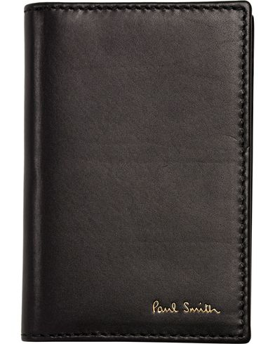 Paul Smith Credit Card Wallet Black With Trimming  i gruppen Accessoarer / Plånböcker / Korthållare hos Care of Carl (12280810)