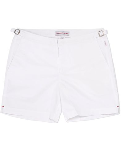 Orlebar Brown Bulldog Medium Length Swim Shorts White i gruppen Badbyxor hos Care of Carl (12282811r)