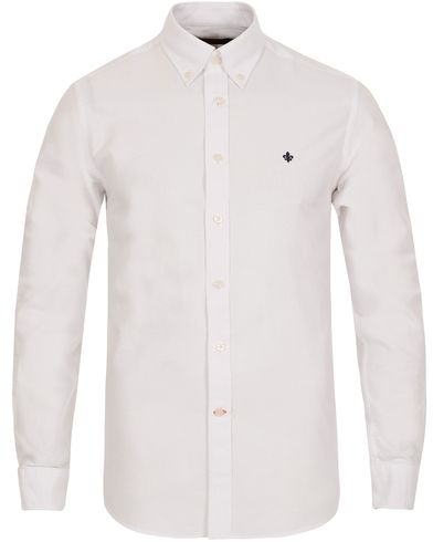 Morris Oxford Button Down Shirt White i gruppen Skjorter / Casual Skjorter hos Care of Carl (12284311r)