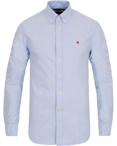 Morris Oxford Button Down Shirt Light Blue i gruppen Skjorter / Oxfordskjorter hos Care of Carl (12284411r)