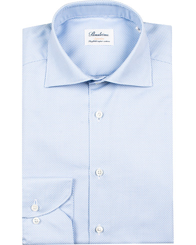 Stenströms Superslim Structured Shirt Blue/White i gruppen Skjorter / Formelle skjorter hos Care of Carl (12289611r)
