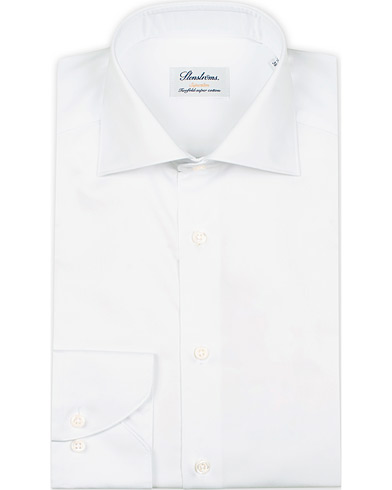 Stenstr�ms Superslim Plain Shirt  White i gruppen Skjorter / Businesskjorter hos Care of Carl (12289711r)