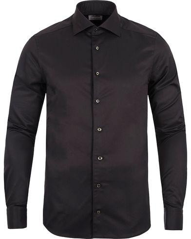 Stenstr�ms Superslim Plain Shirt  Black i gruppen Skjortor / Formella Skjortor hos Care of Carl (12289911r)