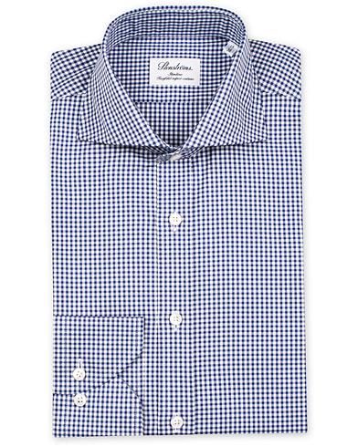 Stenstr�ms Slimline Check Shirt Blue/White i gruppen Skjorter / Businesskjorter hos Care of Carl (12290411r)