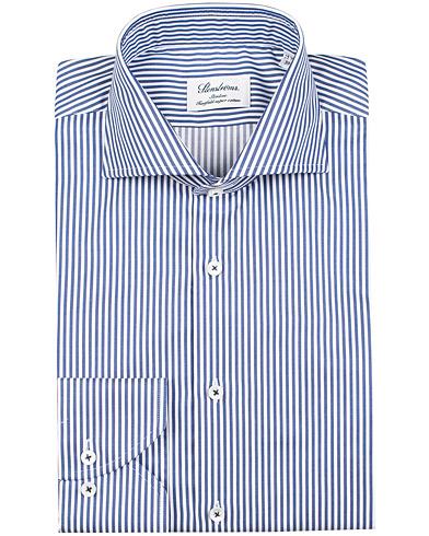 Stenströms Slimline Stripe Shirt Blue/White i gruppen Skjorter / Formelle skjorter hos Care of Carl (12290511r)
