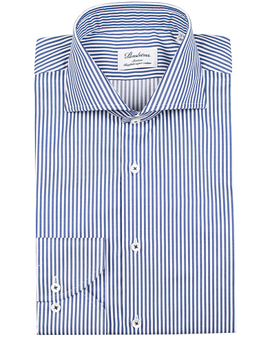 Stenströms Slimline Stripe Shirt Blue/White i gruppen Kläder / Skjortor / Formella skjortor hos Care of Carl (12290511r)