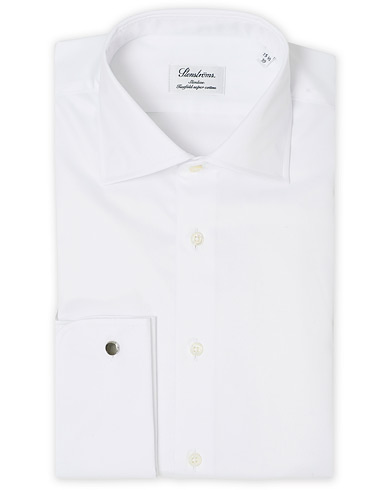 Stenströms Slimline Double Cuff White i gruppen Skjorter / Formelle skjorter hos Care of Carl (12290611r)