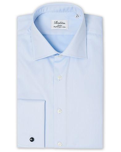 Stenströms Slimline Double Cuff Blue i gruppen Skjortor / Formella skjortor hos Care of Carl (12290711r)