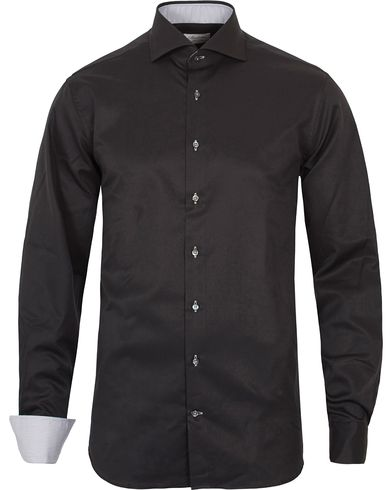 Stenstr�ms Fitted Body Contrast Shirt Black i gruppen Skjorter / Businesskjorter hos Care of Carl (12291011r)