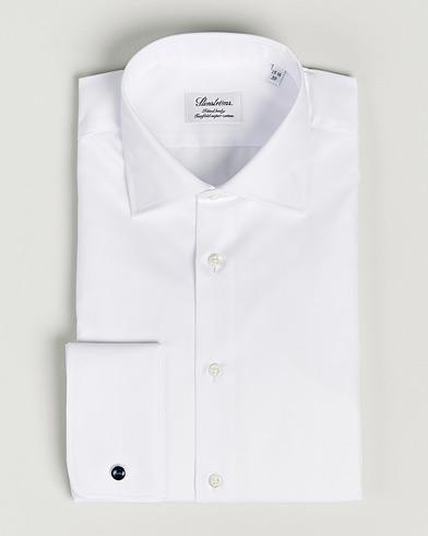 Stenströms Fitted Body Double Cuff White i gruppen Design A / Skjorter / Formelle skjorter hos Care of Carl (12291111r)