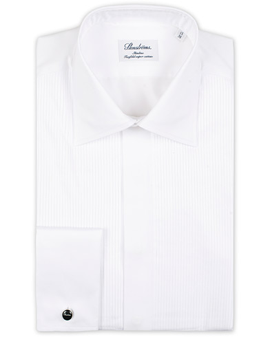 Stenströms Slimline Smoking Shirt White i gruppen Klær / Skjorter / Smokingskjorter hos Care of Carl (12291411r)