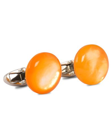 Stenströms Mother of Pearl Cufflink Orange i gruppen Accessoarer / Manschettknappar hos Care of Carl (12292010)