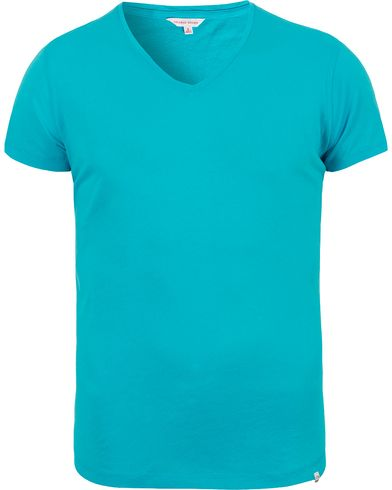 Orlebar Brown OB V-Neck Tee Atoll i gruppen Kläder / T-Shirts / Kortärmade t-shirts hos Care of Carl (12292311r)