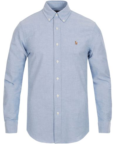 Polo Ralph Lauren Slim Fit Stretch Oxford Shirt Blue i gruppen Kläder / Skjortor hos Care of Carl (12293711r)