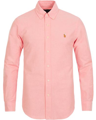 Polo Ralph Lauren Slim Fit Stretch Oxford Shirt Pink i gruppen Skjorter / Oxfordskjorter hos Care of Carl (12293811r)