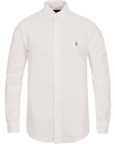 Polo Ralph Lauren Slim Fit Stretch Oxford Shirt White i gruppen Skjorter / Oxfordskjorter hos Care of Carl (12293911r)